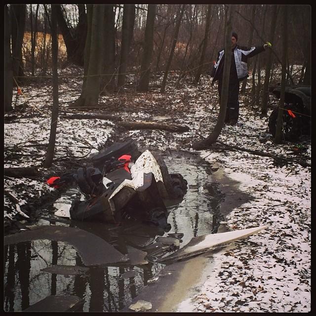 I blame the ice for not getting thru #swampdonkeys