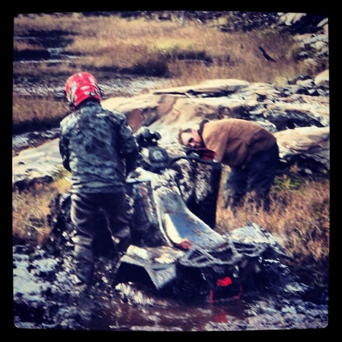 Uh, Ranger, this isn't good. You have a roll pin. #scrambler850 #swampdonkeys