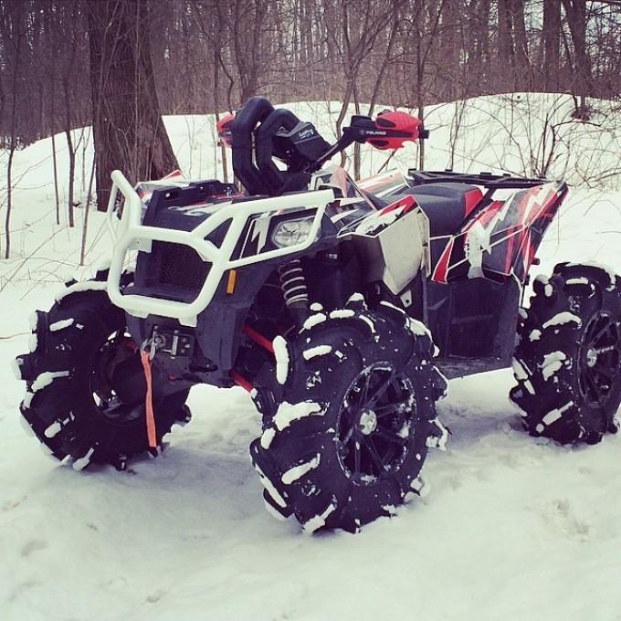 Winter ride poser shot #swampdonkeys #scrambler850 #polaris