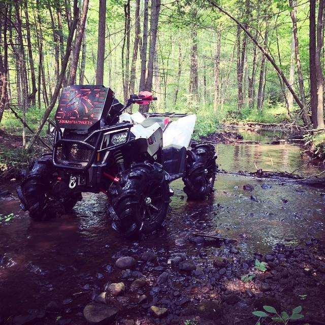 River Ride #scrambler850 #polaris #silverback #gorillaaxle #swampdonkeys