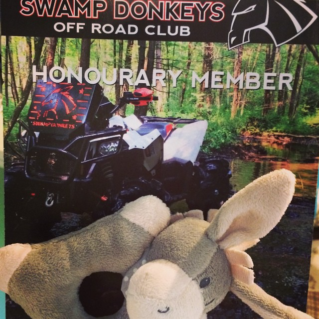 One of the best gifts so far for Harrison to receive. Thanks #swampdonkeys