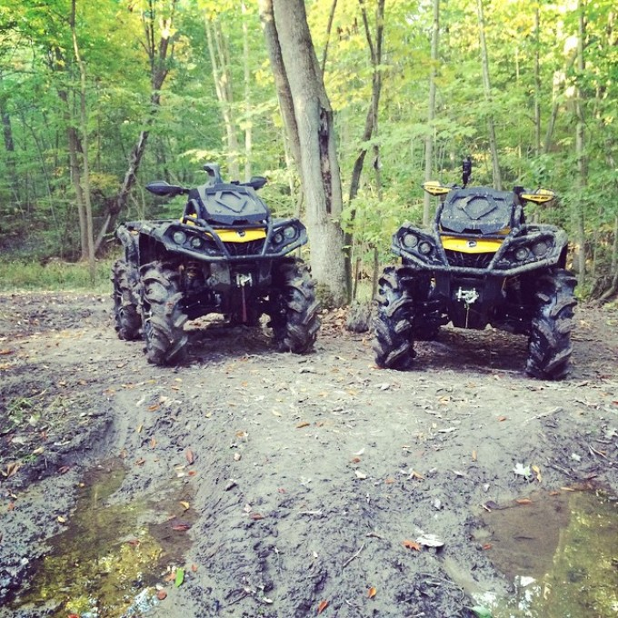 #canam #xmr #swampdonkeys having a break @chriscross4653 @tomdrich