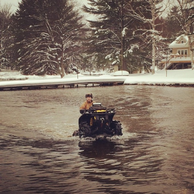 Repost thanks @chriscross4653 #xmr #canam #waterwheelie #muskoka #swampdonkeys