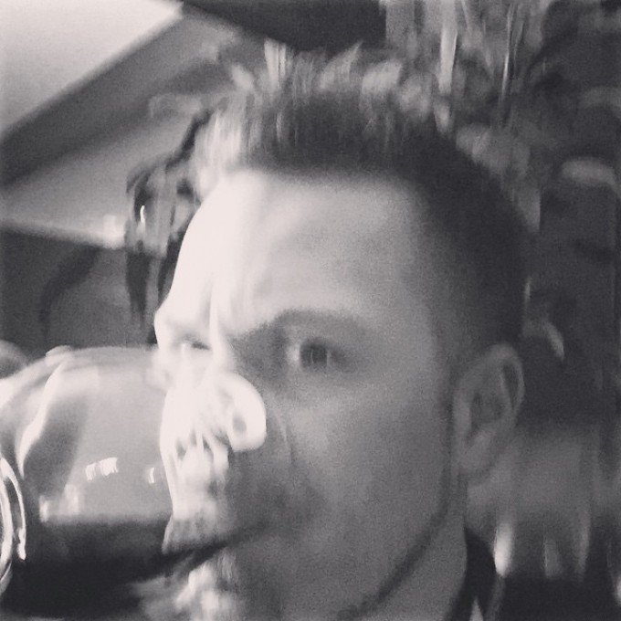#wine #skull #blurry just having fun #movember #swampdonkeys