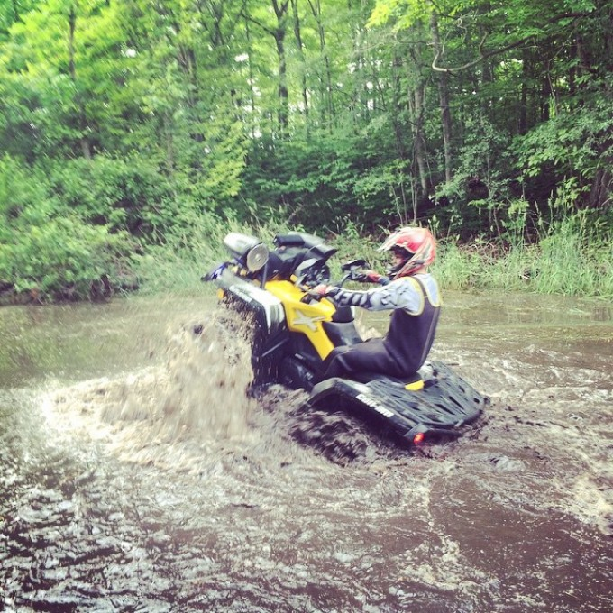 #water #wheelie 2015 #canam #outlander #xmr #800r #amrracing #tigertail #angeleyes #rigidindustries #gorillaaxle #SwampDonkeys
