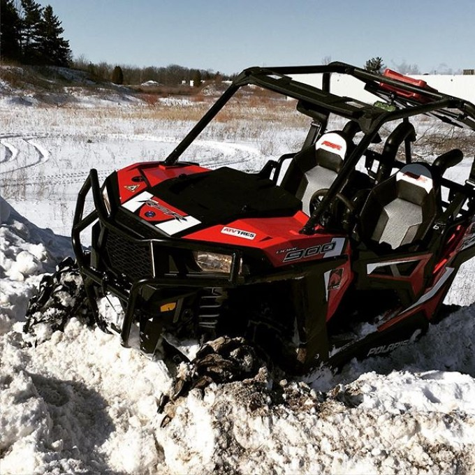@webez9 #rzr #900 #stuck in the #snow. #SwampDonkeys #GLATV