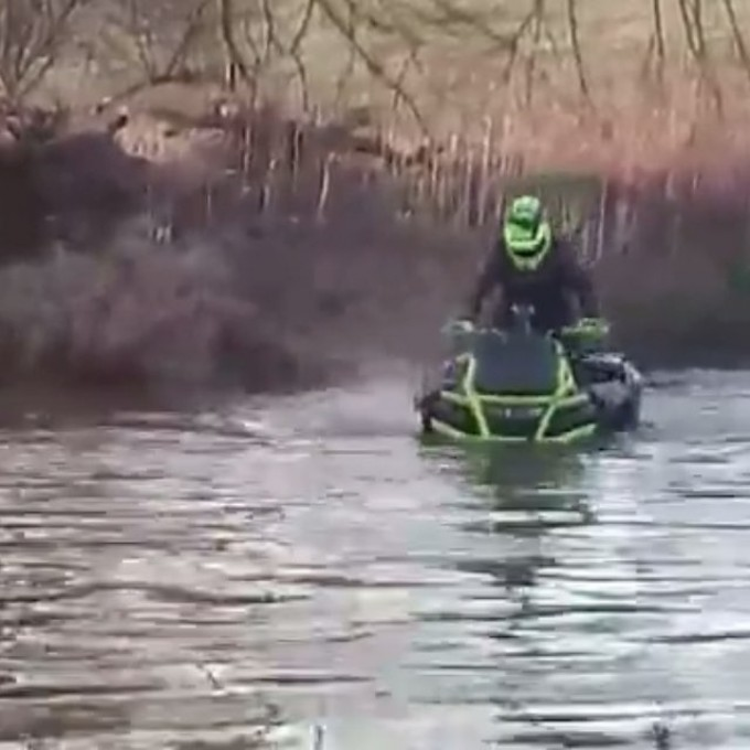 Tim Rock rocking his #xmr #1000 doing some #water #wheelies #GLATV #SwampDonkeys