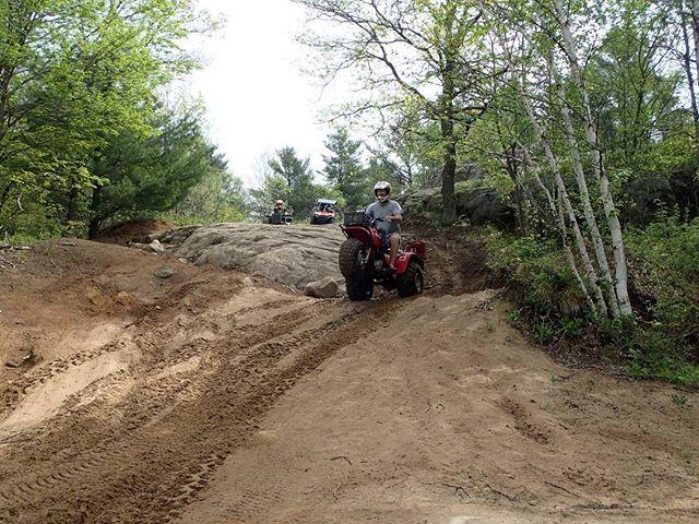 #Wheelie time on the #honda #bigred  #swampdonkeys