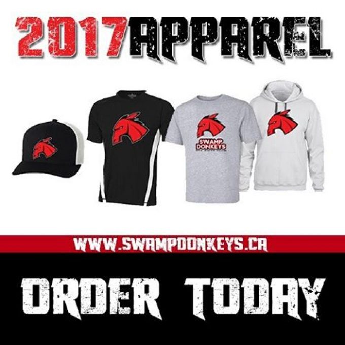 #2017 #swampdonkeys #apparel is now available for order. FREE shipping on orders over $95 Canadian