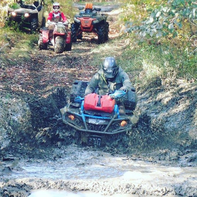 @mrjohnheath ripping the #canam #xmr #1000 thru a water hole #swampdonkeys off road club