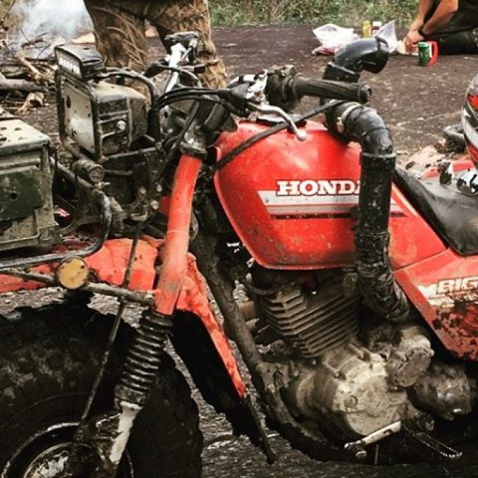 This #Honda #bigred has some #cool #shit on it. Check out @chriscross4653 for more pics of his #swampdonkeys three wheeler from #1985