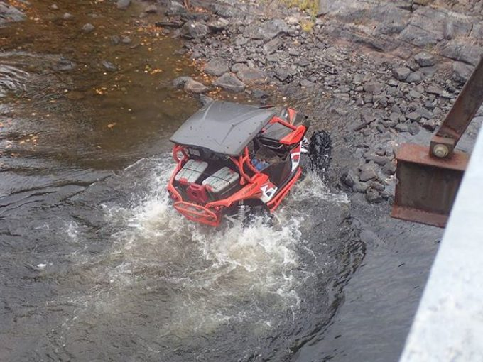 #MaverickXMR ripping thru a river in #Muskoka #SwampDonkeys