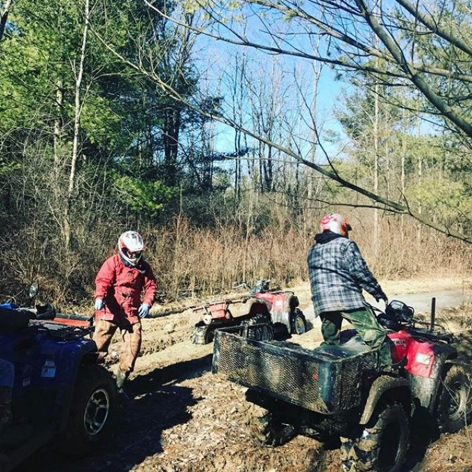 @chriscross4653 stuck on flat ground. #hawksnest #honda #foreman #swampdonkeys