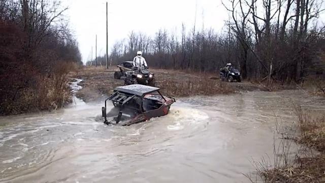 Got the tires wet in