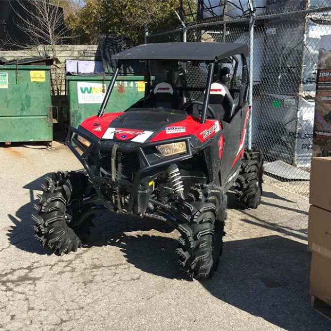 Ready for Saturdays ride. Time to test it out before off-road weekend. #swampdonkeys #terminators #superatv. Thanks @tricitycyclewaterloo