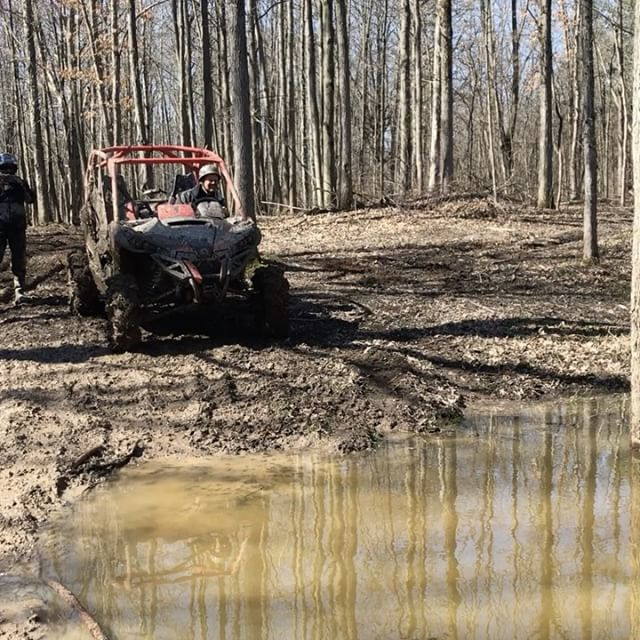 #spring thaw has the water levels high this year. #canammonsters #maverickxmr #canam #swampdonkeys
