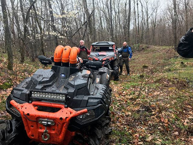 @sawmiller07 #polaris #highlifter broke on the trail, but it didn't stop him   #CanAmMonsters #MaverickXMR #1000 #canam #XMR #GorillaAxle #SwampDonkeys