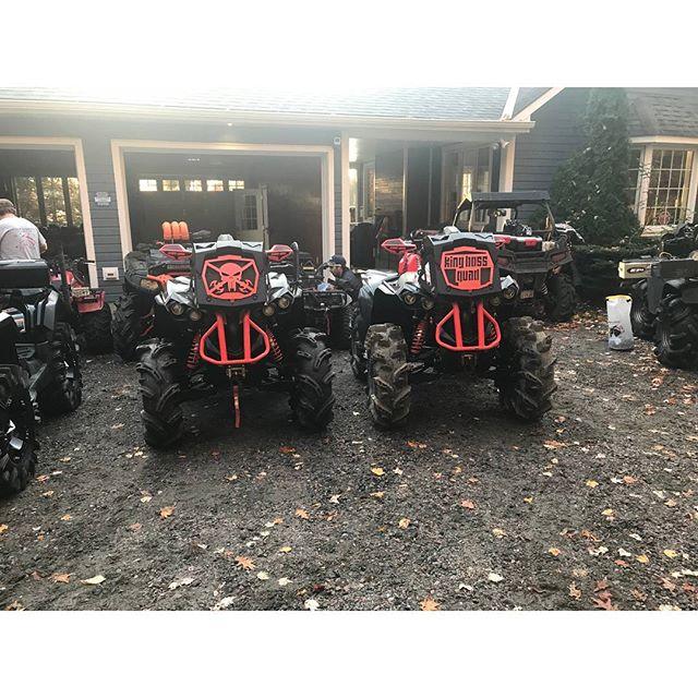 @KingBossQuad & @aubreyburbine two #beautiful #renegadexmr1000 ready to roll with the #swampdonkeys