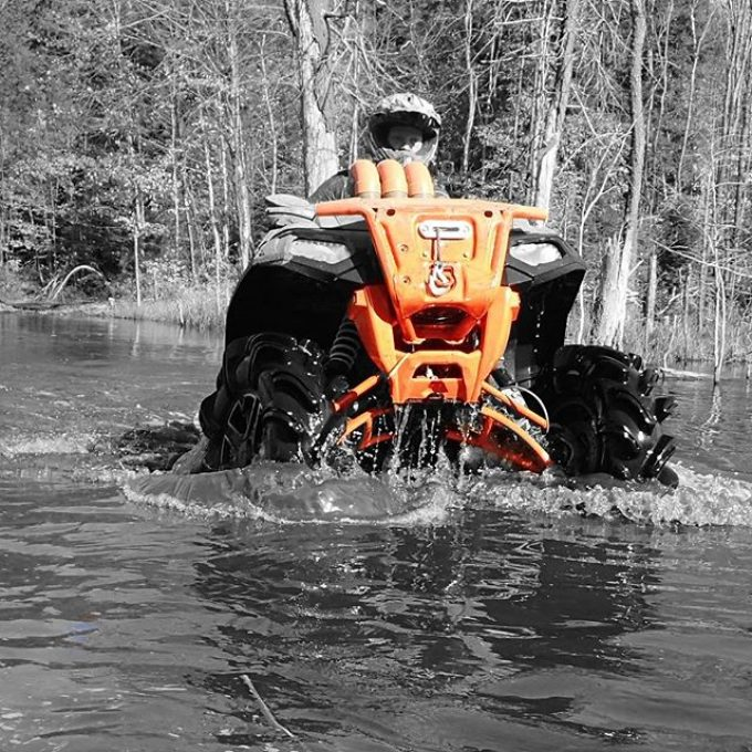 @mr._lifter scouting #trail for the #swampdonkeys on his #highlifter #sportsman1000xp