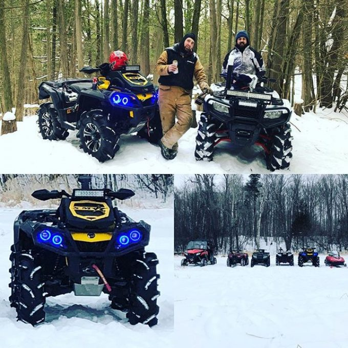 #birthday #at bride today in the #snow #canam #outlanderxmr #swampdonkeys
